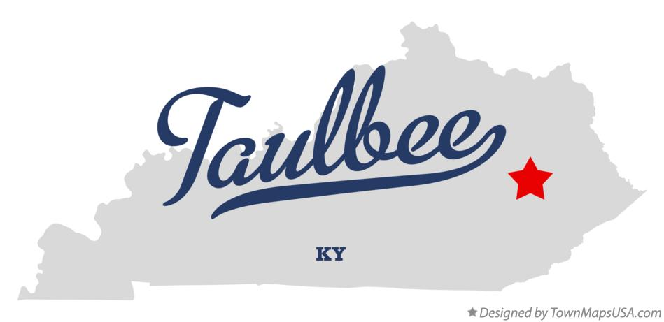 Map of Taulbee Kentucky KY