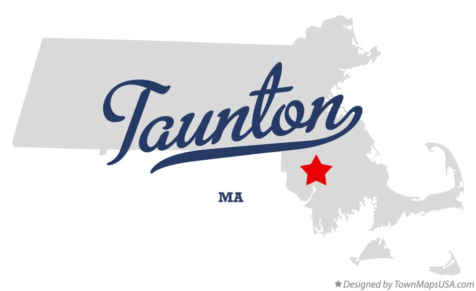 Map of Taunton MA Massachusetts
