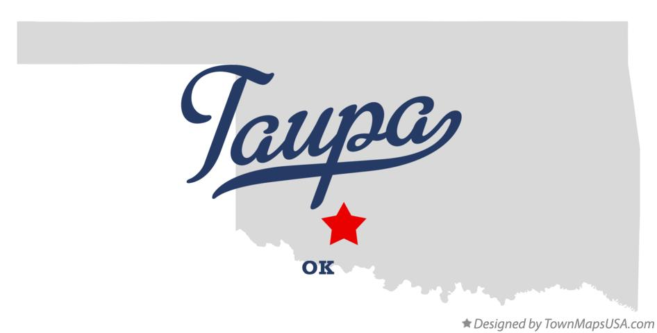 Map of Taupa Oklahoma OK