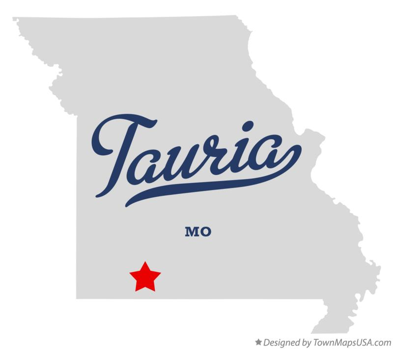 Map of Tauria Missouri MO