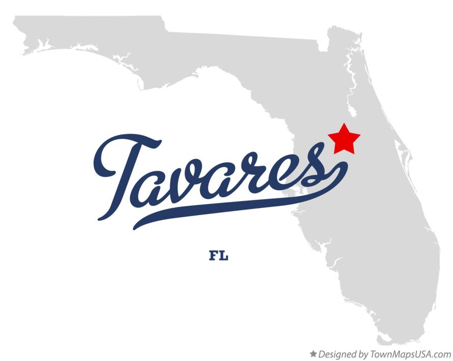 Map Tavares Florida.Map Of Tavares Fl Florida