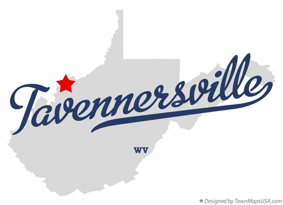 Map of Tavennersville West Virginia WV