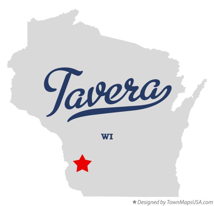 Map of Tavera Wisconsin WI