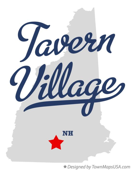 Map of Tavern Village New Hampshire NH