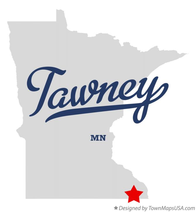 Map of Tawney Minnesota MN