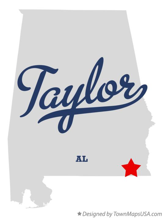 Map of Taylor Alabama AL