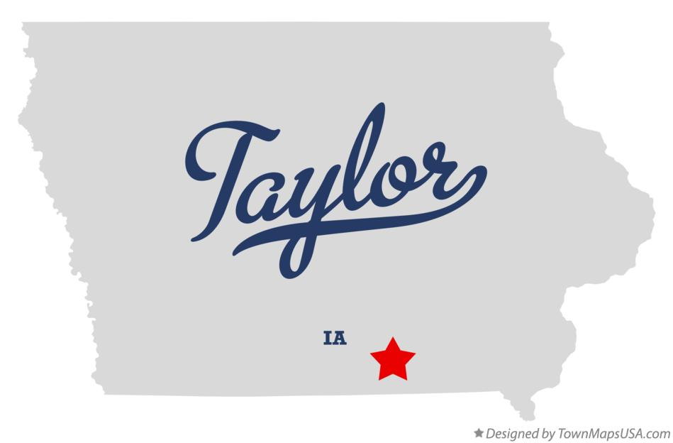 Map of Taylor Iowa IA