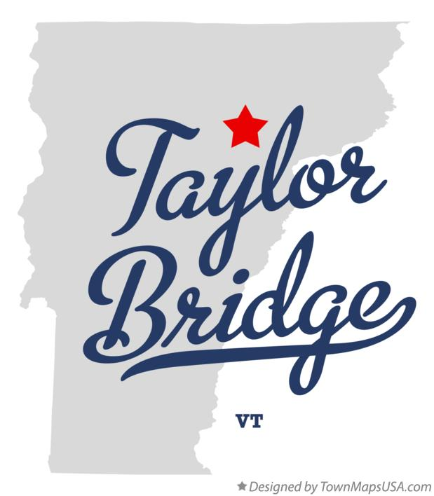 Map of Taylor Bridge Vermont VT