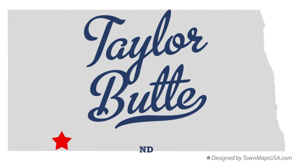 Map of Taylor Butte North Dakota ND