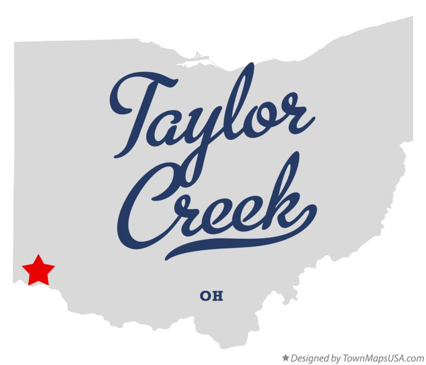 Map of Taylor Creek Ohio OH