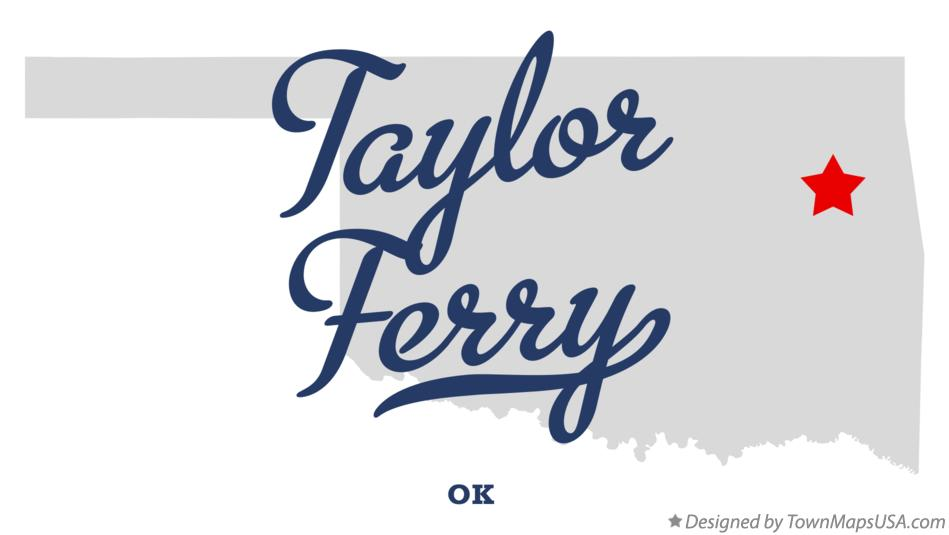Map of Taylor Ferry Oklahoma OK