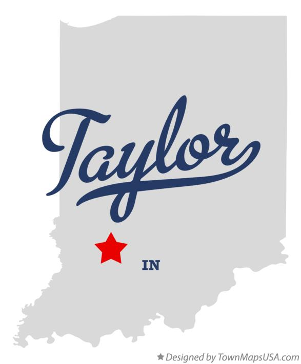 Map of Taylor Indiana IN