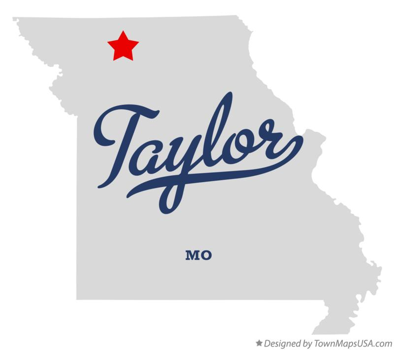 Map of Taylor Missouri MO
