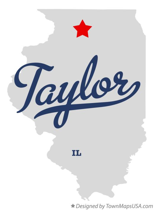 Map of Taylor Illinois IL