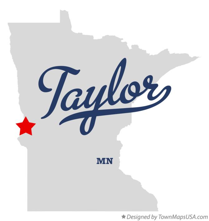 Map of Taylor Minnesota MN