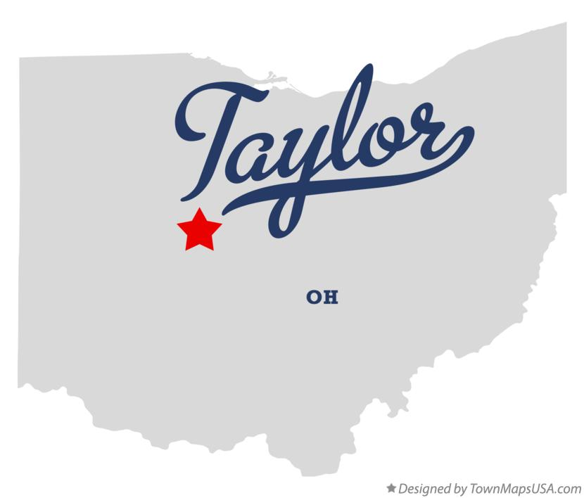 Map of Taylor Ohio OH