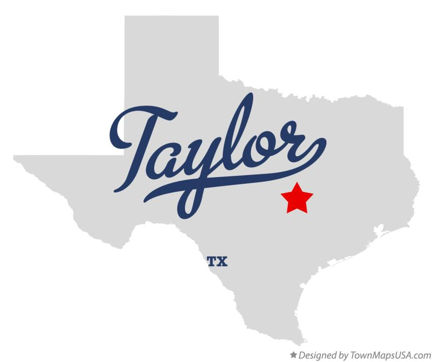 Map of Taylor Texas TX