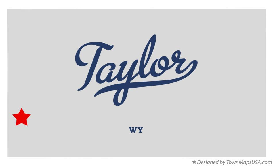 Map of Taylor Wyoming WY
