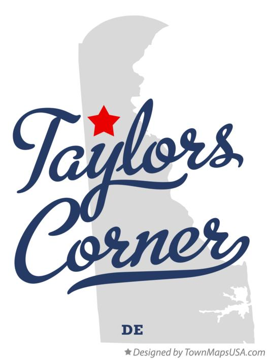 Map of Taylors Corner Delaware DE