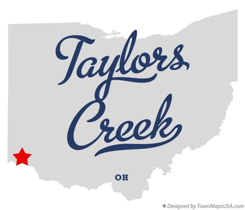 Map of Taylors Creek Ohio OH
