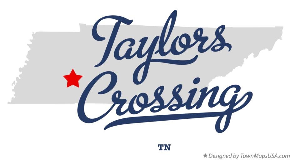 Map of Taylors Crossing Tennessee TN