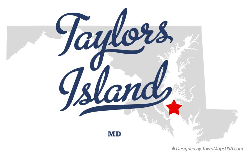Map of Taylors Island Maryland MD