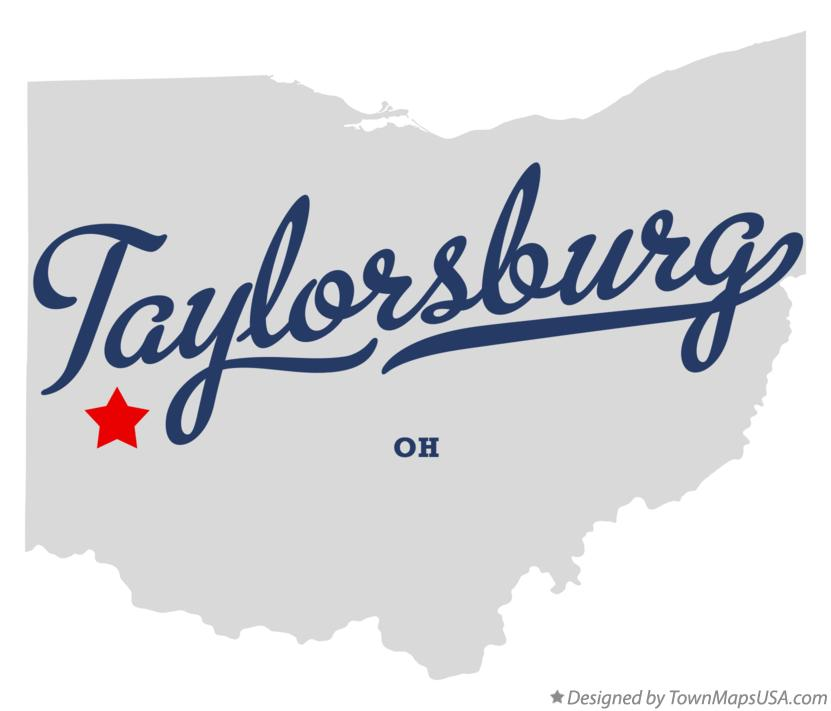 Map of Taylorsburg Ohio OH