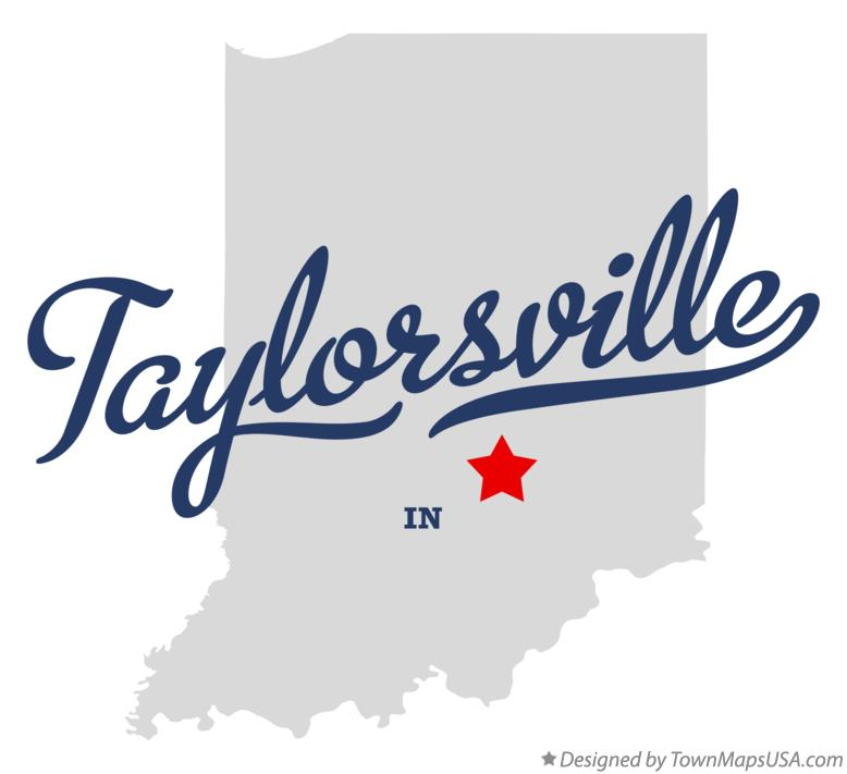 Map of Taylorsville Indiana IN