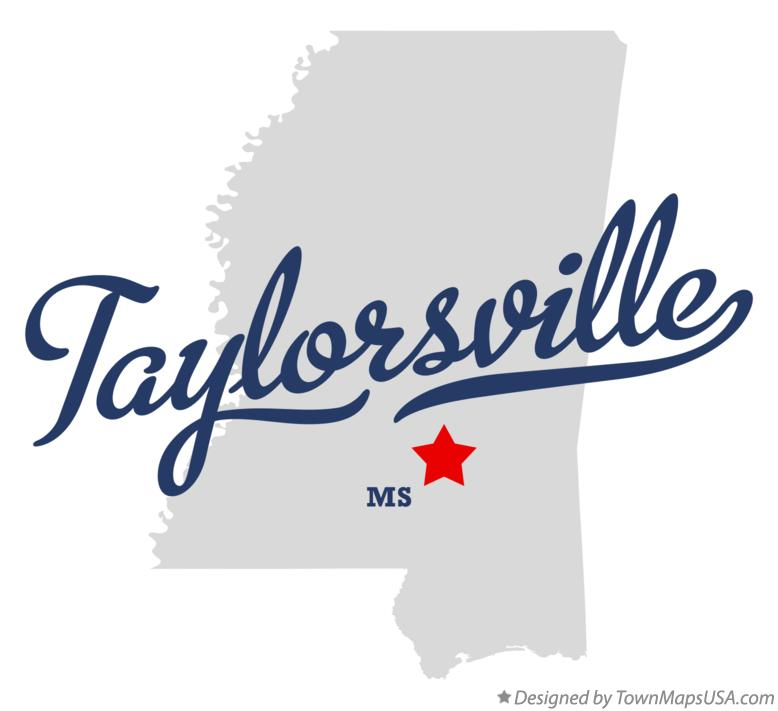 Map of Taylorsville Mississippi MS