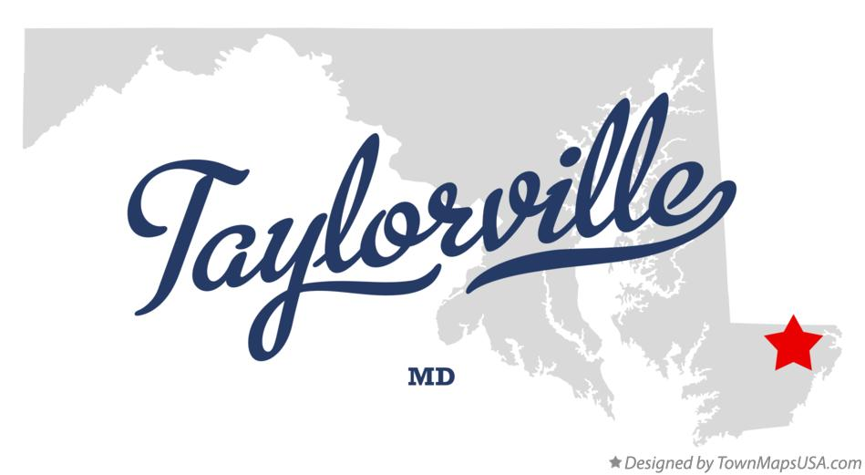 Map of Taylorville Maryland MD