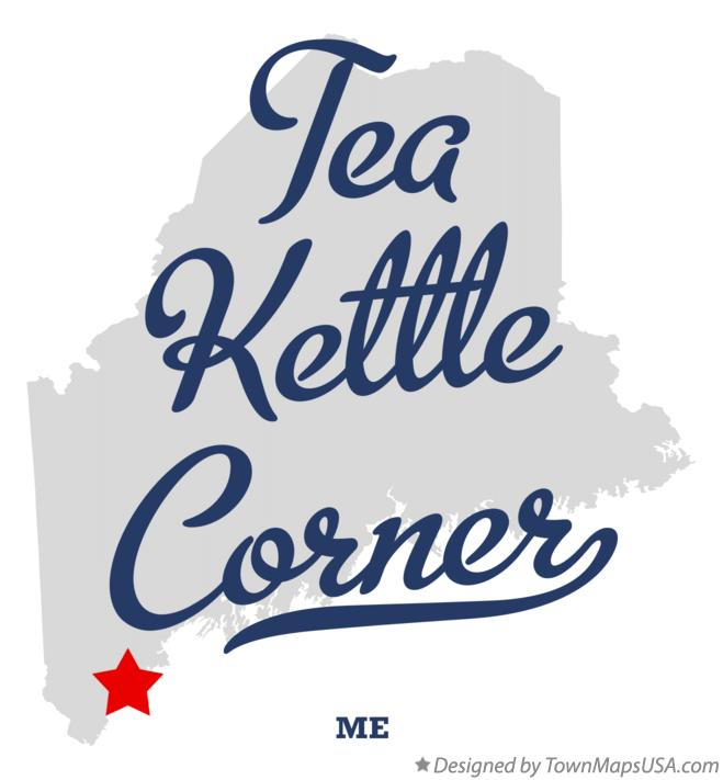 Map of Tea Kettle Corner Maine ME