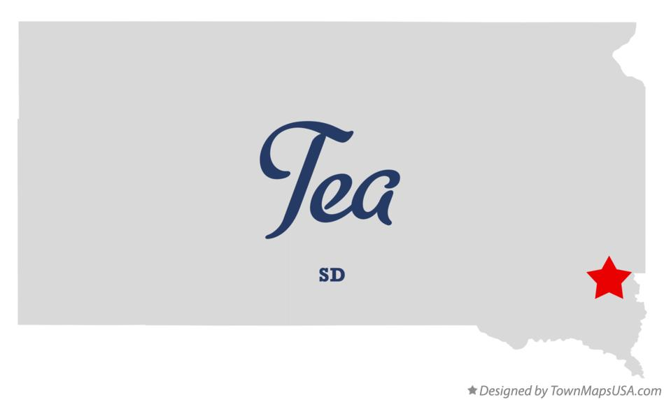 Map of Tea South Dakota SD