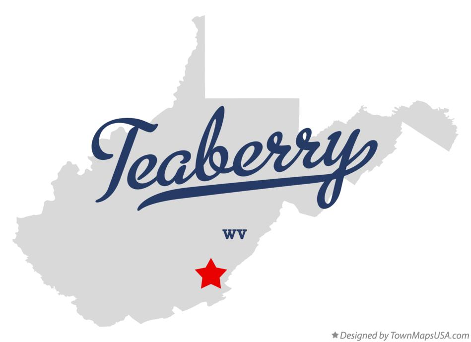 Map of Teaberry West Virginia WV
