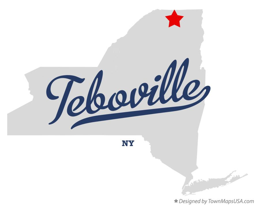 Map of Teboville New York NY
