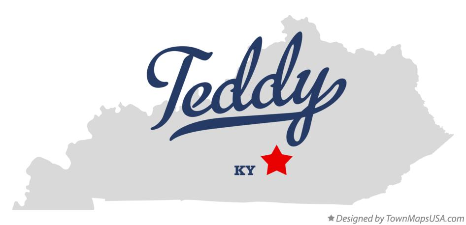 Map of Teddy Kentucky KY