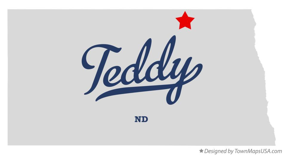Map of Teddy North Dakota ND