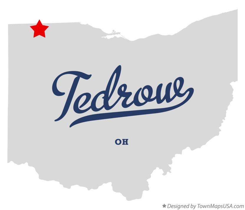 Map of Tedrow Ohio OH