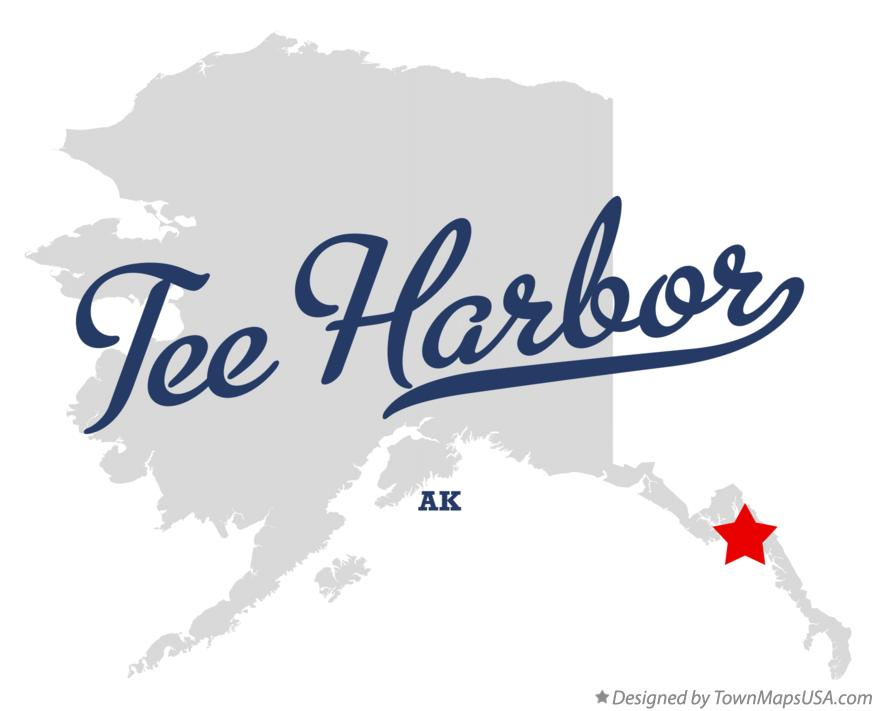 Map of Tee Harbor Alaska AK