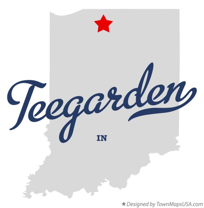 Map of Teegarden Indiana IN