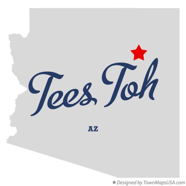 Map of Tees Toh Arizona AZ