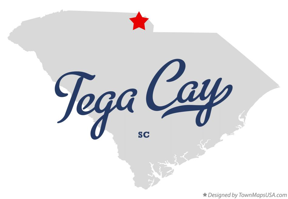 Map of Tega Cay South Carolina SC