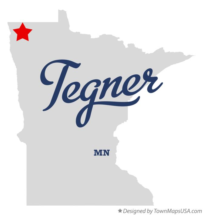 Map of Tegner Minnesota MN