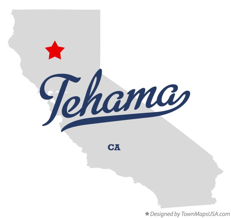 Map of Tehama California CA