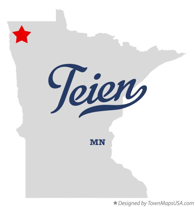 Map of Teien Minnesota MN