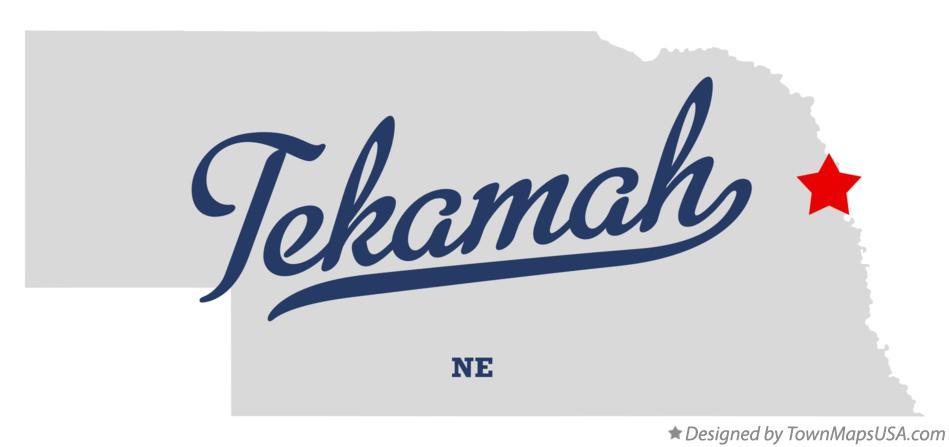 Map of Tekamah Nebraska NE