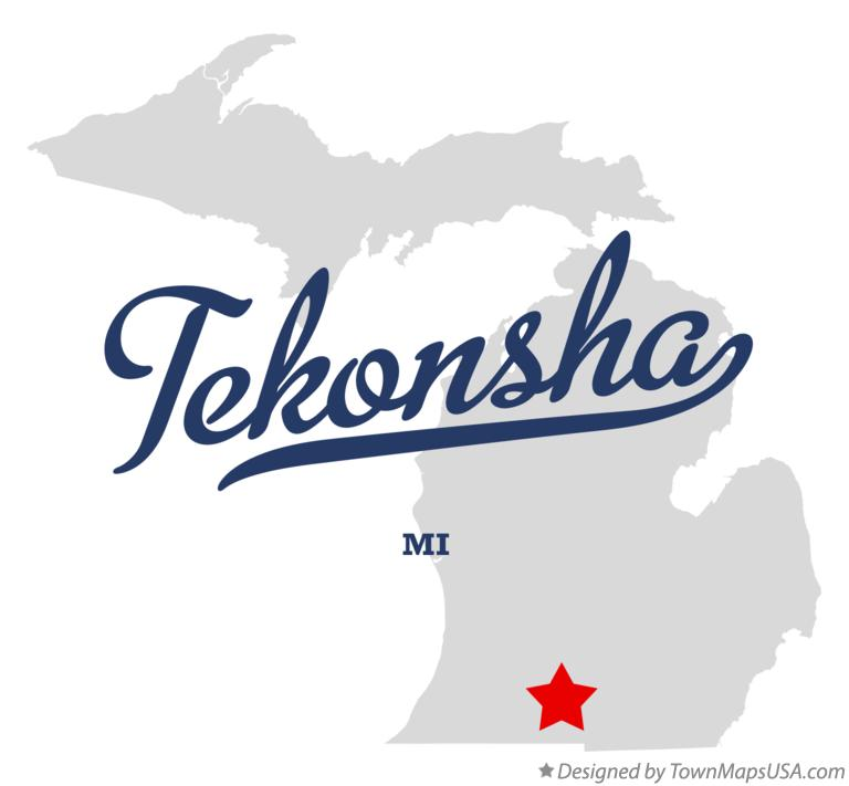 Map of Tekonsha Michigan MI