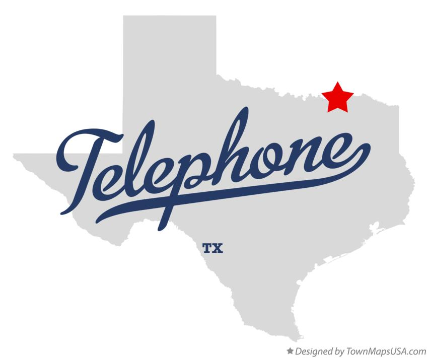 Map of Telephone Texas TX