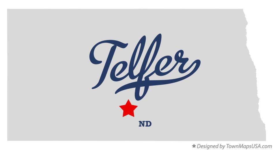 Map of Telfer North Dakota ND