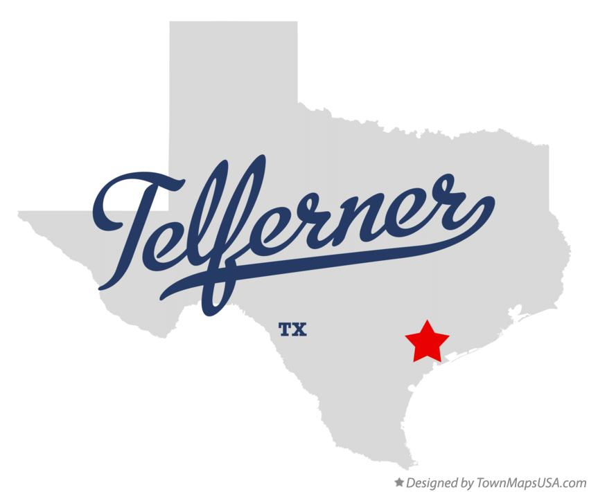 Map of Telferner Texas TX