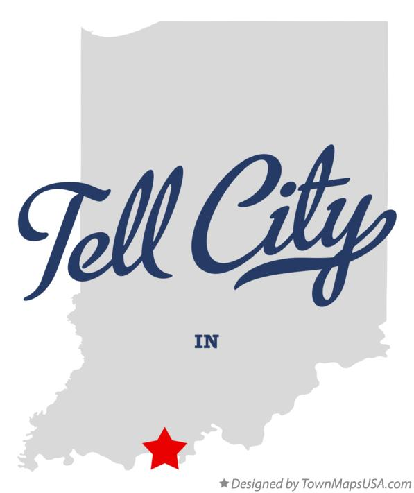 Map of Tell City Indiana IN